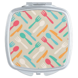 Kitchen pattern 3 compact mirrors