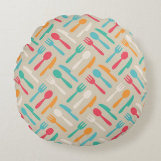 Kitchen pattern 3 round cushion