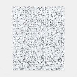 Kitchen Pattern 4 Fleece Blanket
