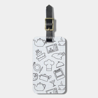Kitchen Pattern 4 Luggage Tag