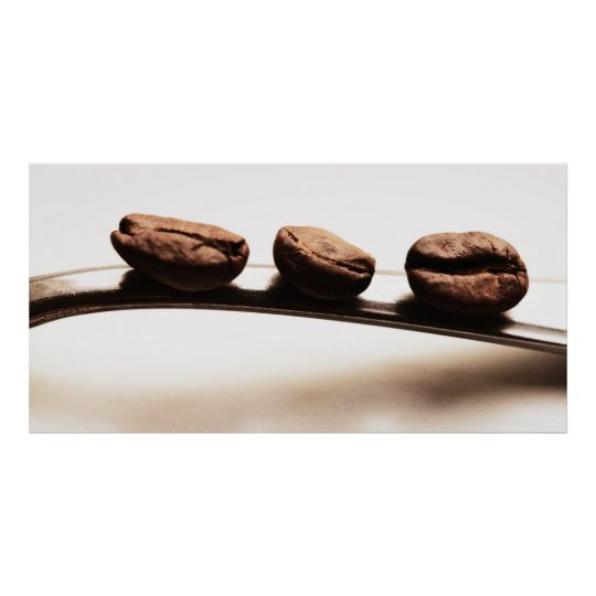 Kitchen picture - the three coffee beans poster