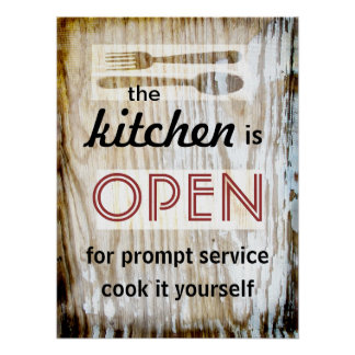 kitchen poster humorous quote cook it yourself