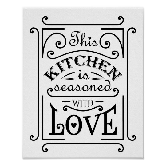Kitchen quote design poster