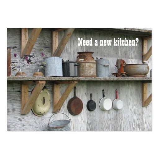 Kitchen Remodel Vintage Business Card