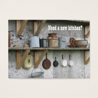 Kitchen Remodel Vintage Business Card