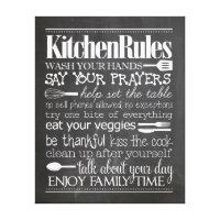 Kitchen Rules Canvas Print