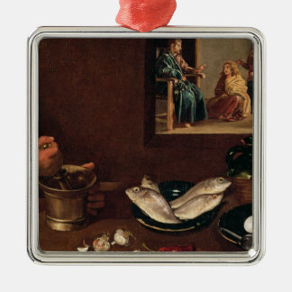 Kitchen Scene with Christ Christmas Ornament