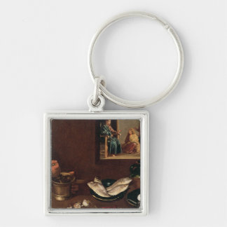 Kitchen Scene with Christ Key Ring