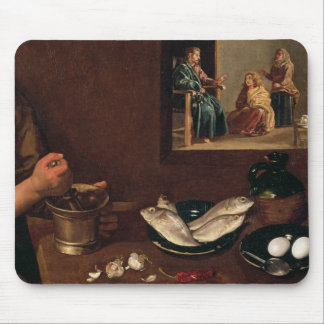 Kitchen Scene with Christ Mousepad
