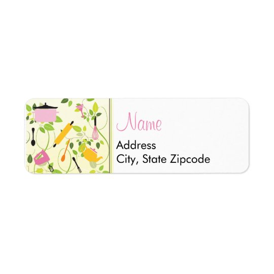 Kitchen Shower Address Label