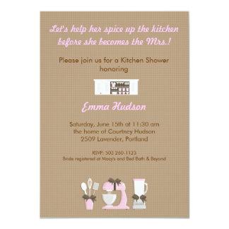 Kitchen Shower 11 Cm X 16 Cm Invitation Card