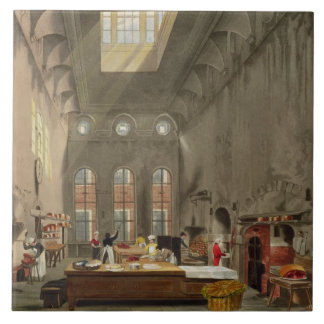 Kitchen, St. James's Palace, engraved by William J Large Square Tile