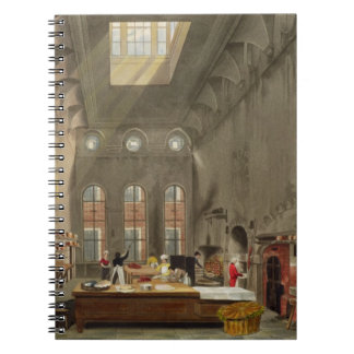 Kitchen, St. James's Palace, engraved by William J Notebook