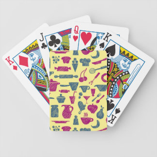 Kitchen supplies bicycle playing cards