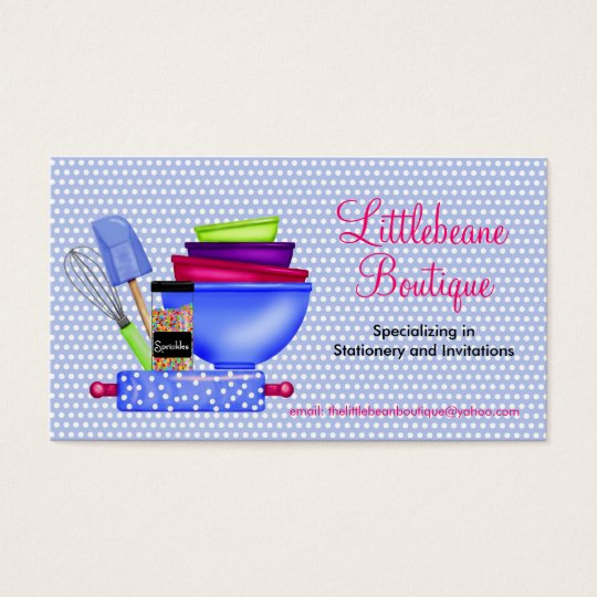 Kitchen Supplies Business Calling Cards