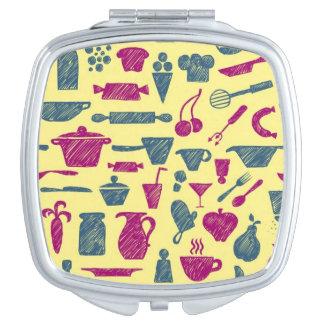 Kitchen supplies compact mirror