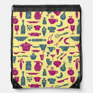 Kitchen supplies drawstring bag