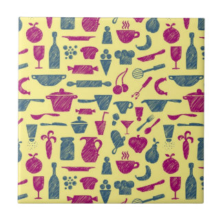 Kitchen supplies small square tile