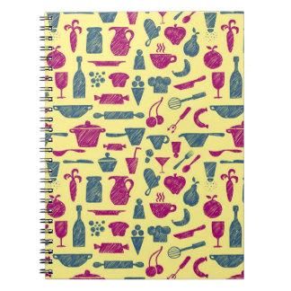 Kitchen supplies spiral notebook