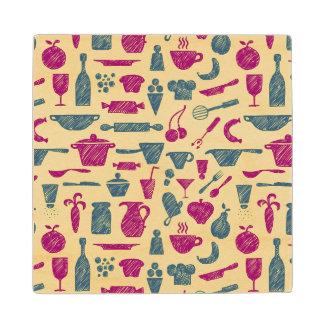 Kitchen supplies wood coaster