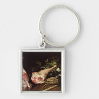 Kitchen Table, Still Life Silver-Colored Square Key Ring