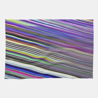 Kitchen / Tea Towel - Diagonal coloured stripes