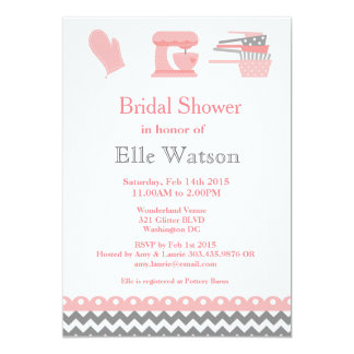 Kitchen Themed Bridal Shower Invitations, Custom 13 Cm X 18 Cm Invitation Card