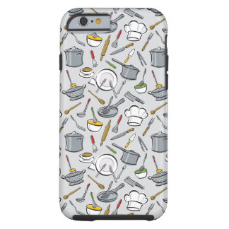 Kitchen Tools Pattern Tough iPhone 6 Case