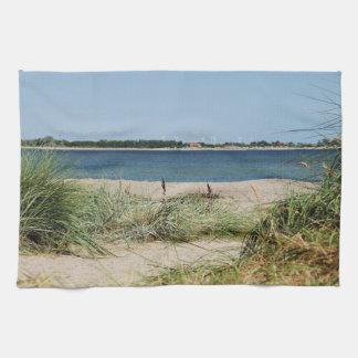 Kitchen towel beach with dunes
