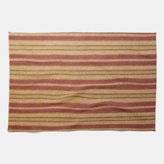 Kitchen Towel. Faded Horizontal Stripes. Tea Towel