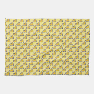 Kitchen Towel - Gold Hearts