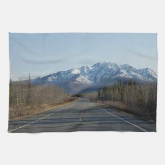 Kitchen towel highway in Alaska