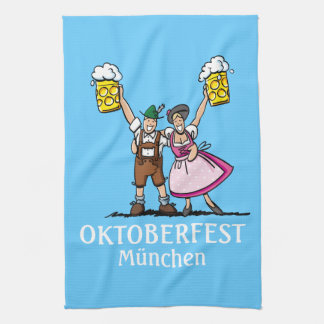 Kitchen Towel Oktoberfest München Couple Beer