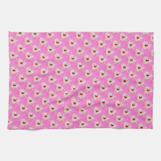 Kitchen Towel - Pink Heart Art