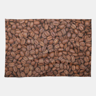 Kitchen towel print with roasted coffee beans