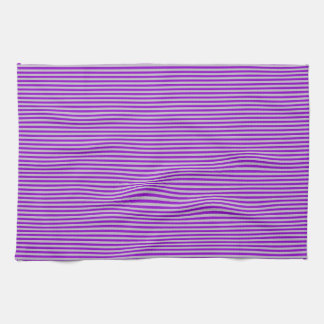 Kitchen Towel - Purple and Silver - Stripes