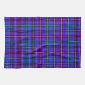 Kitchen towel  purple blue retro plaid