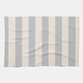 Kitchen Towel - Silver and Buttermilk Cream