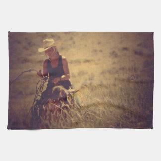 Kitchen Towel Western Cowgirl