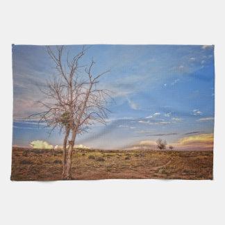 Kitchen Towel Western Rustic Landscape