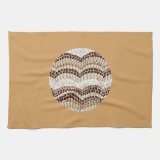 Kitchen towel with beige mosaic