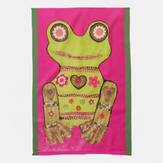 Kitchen Towel with Cool Frog Design