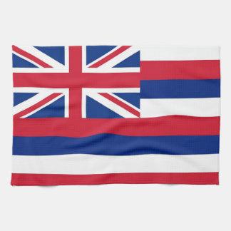 Kitchen towel with Flag of Hawaii, U.S.A.
