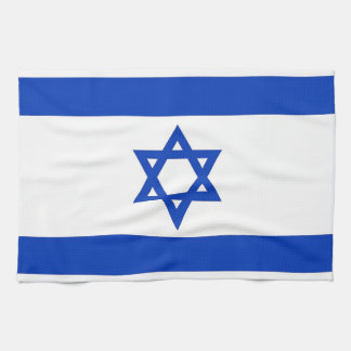 Kitchen towel with Flag of Israel