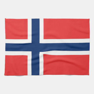 Kitchen towel with Flag of Norway