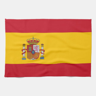 Kitchen towel with Flag of Spain