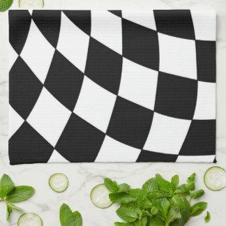 Kitchen Towel  Wonderland Floor Black and White