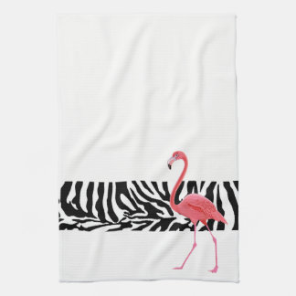 Kitchen Towel-Zebra Print/Flamingo Tea Towel
