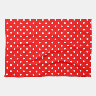 Kitchen Towels Hot Red Polka Dot
