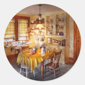 Kitchen - Typical farm kitchen Round Sticker